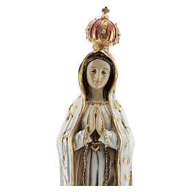 Notre-Dame de Fatima en prière statue résine 30 cm s2