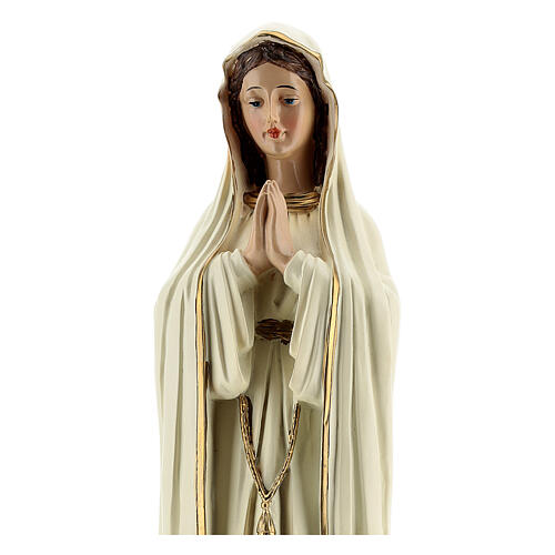 Our Lady of Fatima white robes without crown statue 30 cm 2
