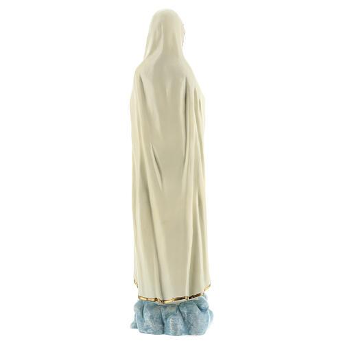 Estatua Virgen Fátima vestidos blancos sin corona resina 30 cm 5