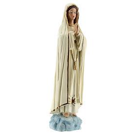 Statue Notre-Dame de Fatima robe blanche sans couronne résine 30 cm s4
