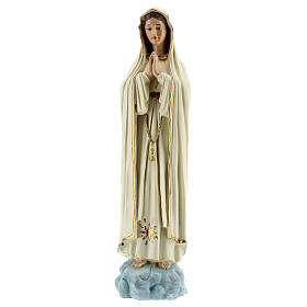 Lady of Fatima statue with white robes without crown resin 30 cm s1