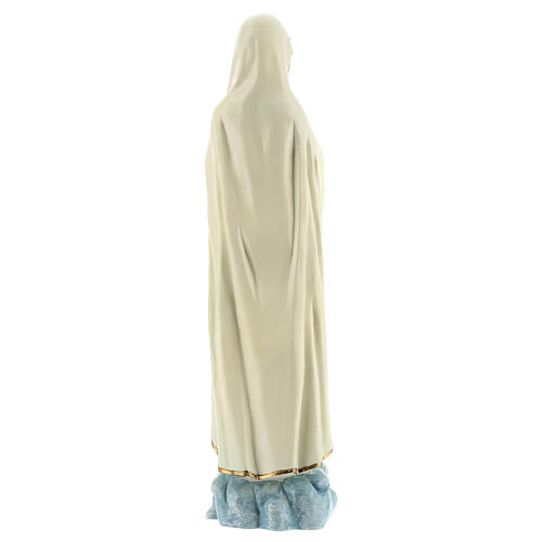 Lady of Fatima statue with white robes without crown resin 30 cm 5