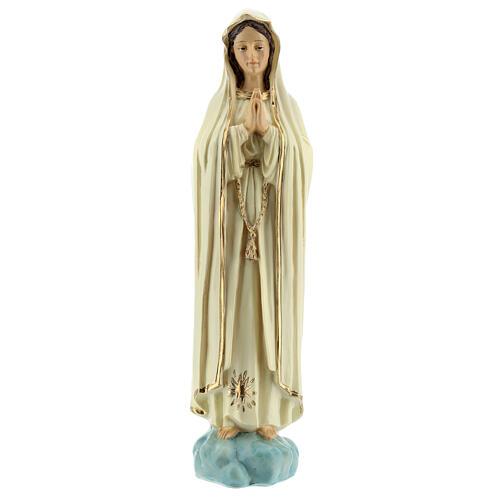Virgen Fátima sin corona estrella dorada estatua resina 20 cm 1