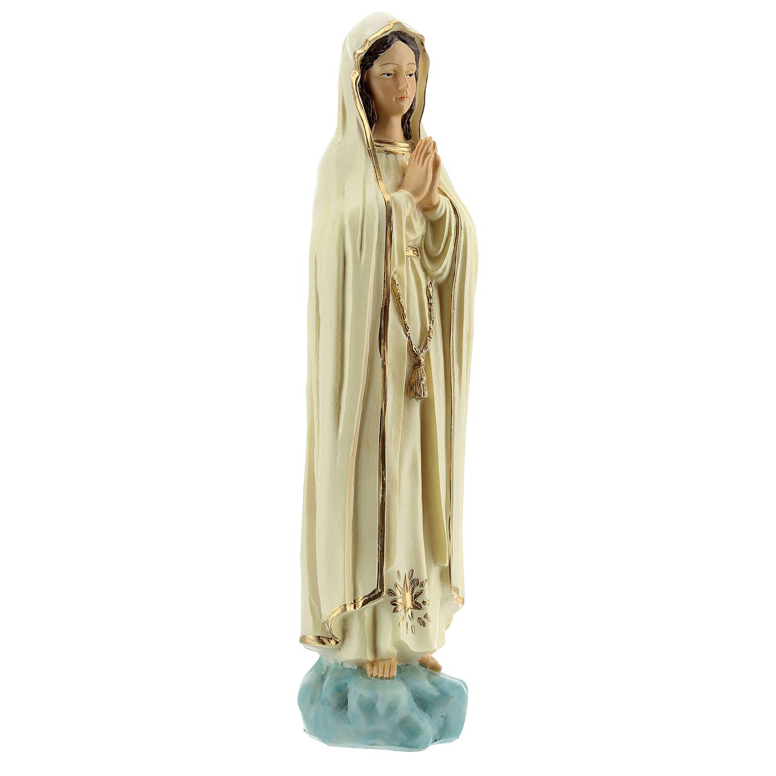 Madonna Fatima senza corona stella dorata statua resina 20 cm 4