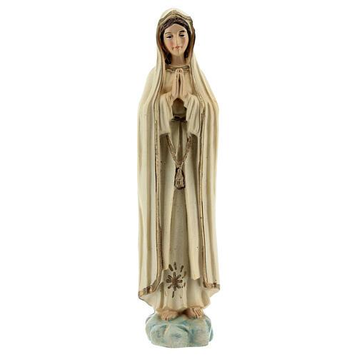 Madonna Fatima preghiera stella oro statua resina 12 cm 1