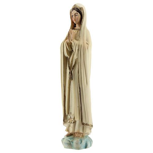 Madonna Fatima preghiera stella oro statua resina 12 cm 2
