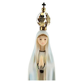 Our Lady of Fatima statue with golden crown in resin 20 cm s2