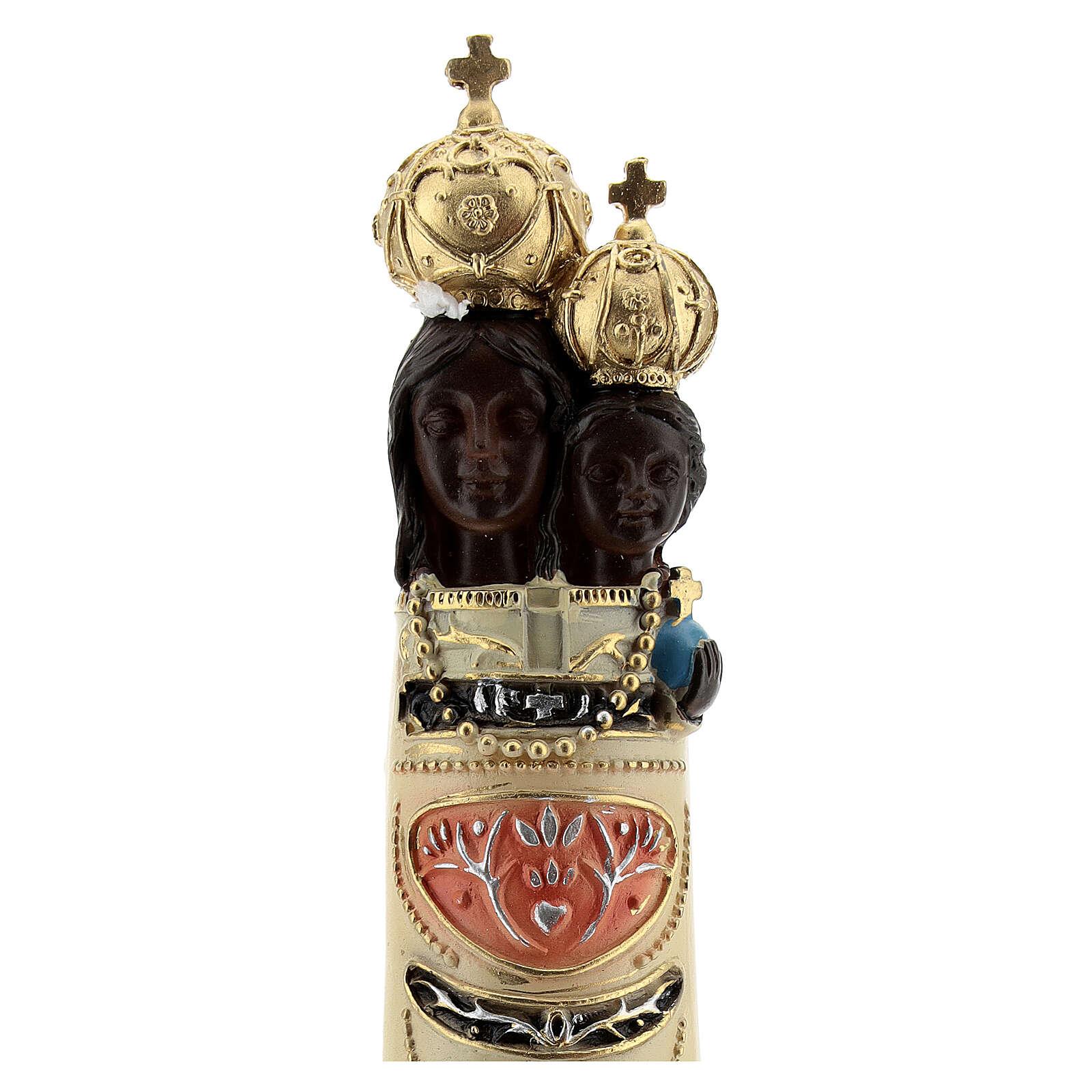 Estatua Virgen Loreto detalles oro resina 20 cm 4