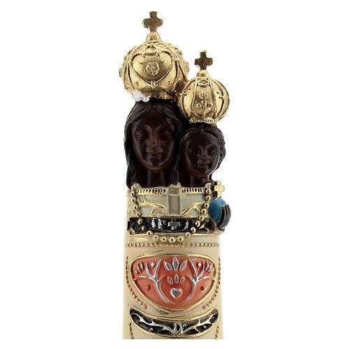 Estatua Virgen Loreto detalles oro resina 20 cm 2