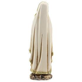 Nuestra Señora Lourdes manos juntas estatuta resina 12,5 cm s4