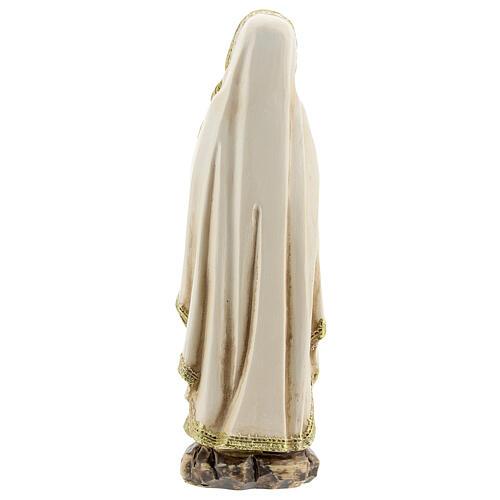 Nuestra Señora Lourdes manos juntas estatuta resina 12,5 cm 4