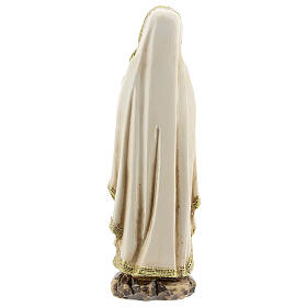 Our Lady of Lourdes statue in prayer, resin 12.5 cm s4
