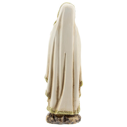 Our Lady of Lourdes statue in prayer, resin 12.5 cm 4