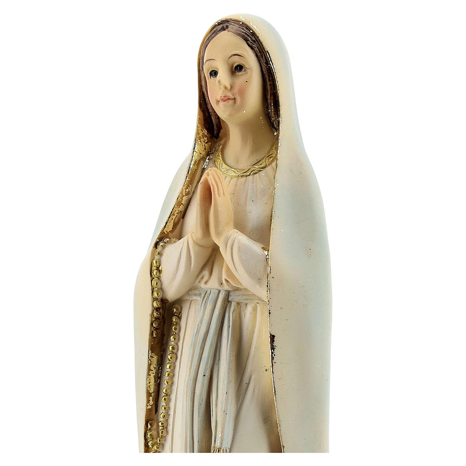 Madonna in preghiera statua resina 20,5 cm 4