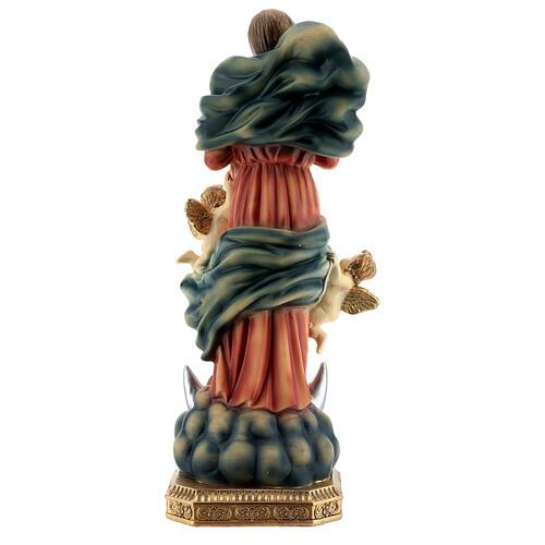María que desata los nudos ángeles estatua resina 31,5 cm 5
