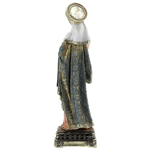 Mary and Baby Baroque clothes square base resin statue 30.5 cm 5