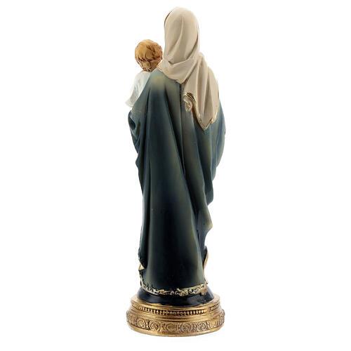 Madonna Bambino rosario statua resina 15 cm 4