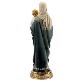 Mary and Child statue with rosary in resin 15 cm s4