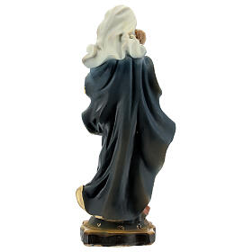 Virgin Mary Baby Jesus sky-blue vault statue resin 14 cm s4