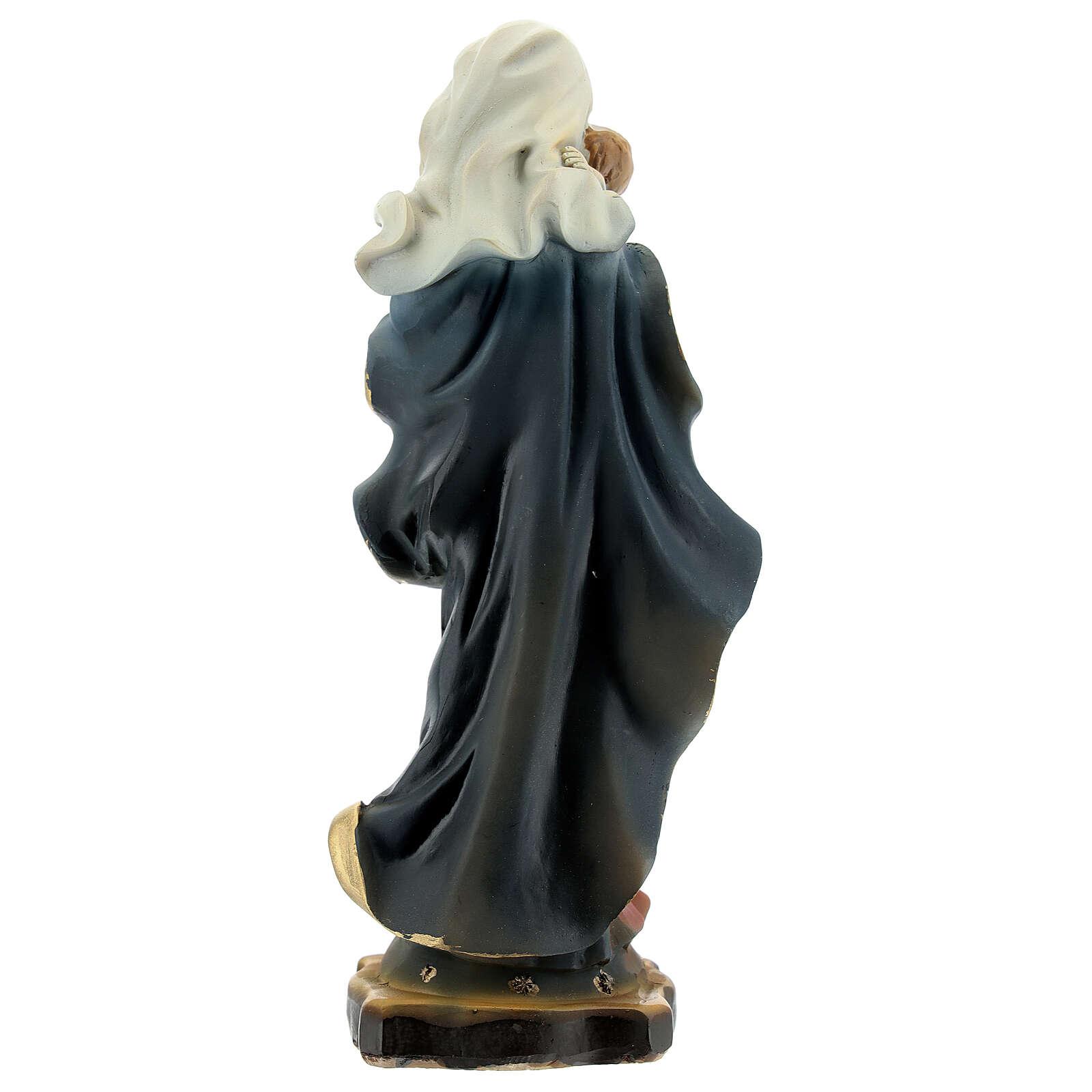 Vierge Enfant Jésus voûte céleste statue résine 14 cm 4