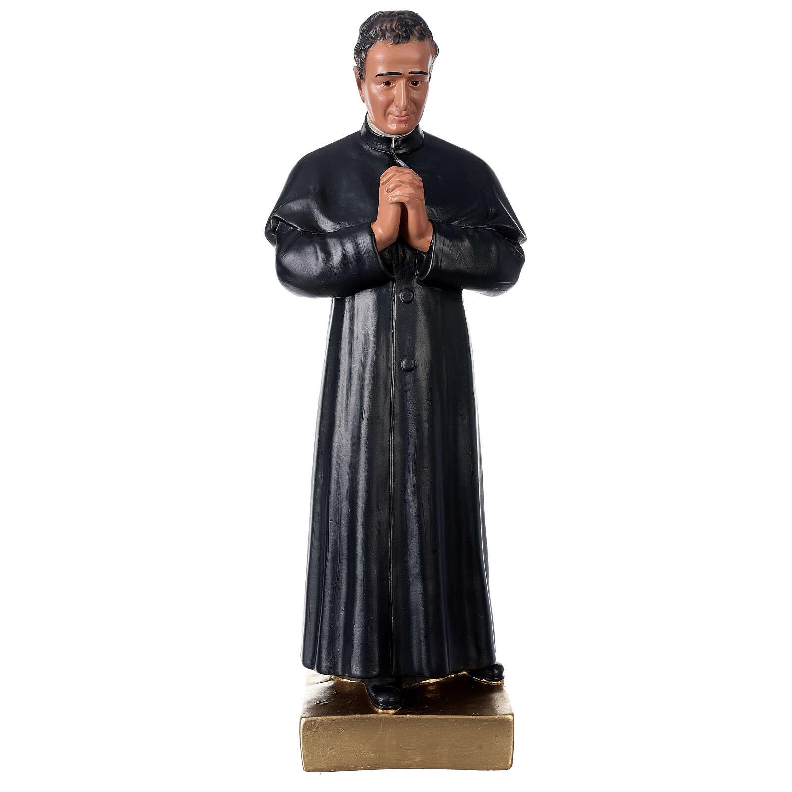 Saint Jean Bosco statue plâtre 60 cm peint main Barsanti 4