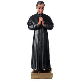 Saint Jean Bosco statue plâtre 60 cm peint main Barsanti s1