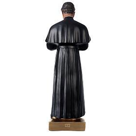 Saint Jean Bosco statue plâtre 60 cm peint main Barsanti s5
