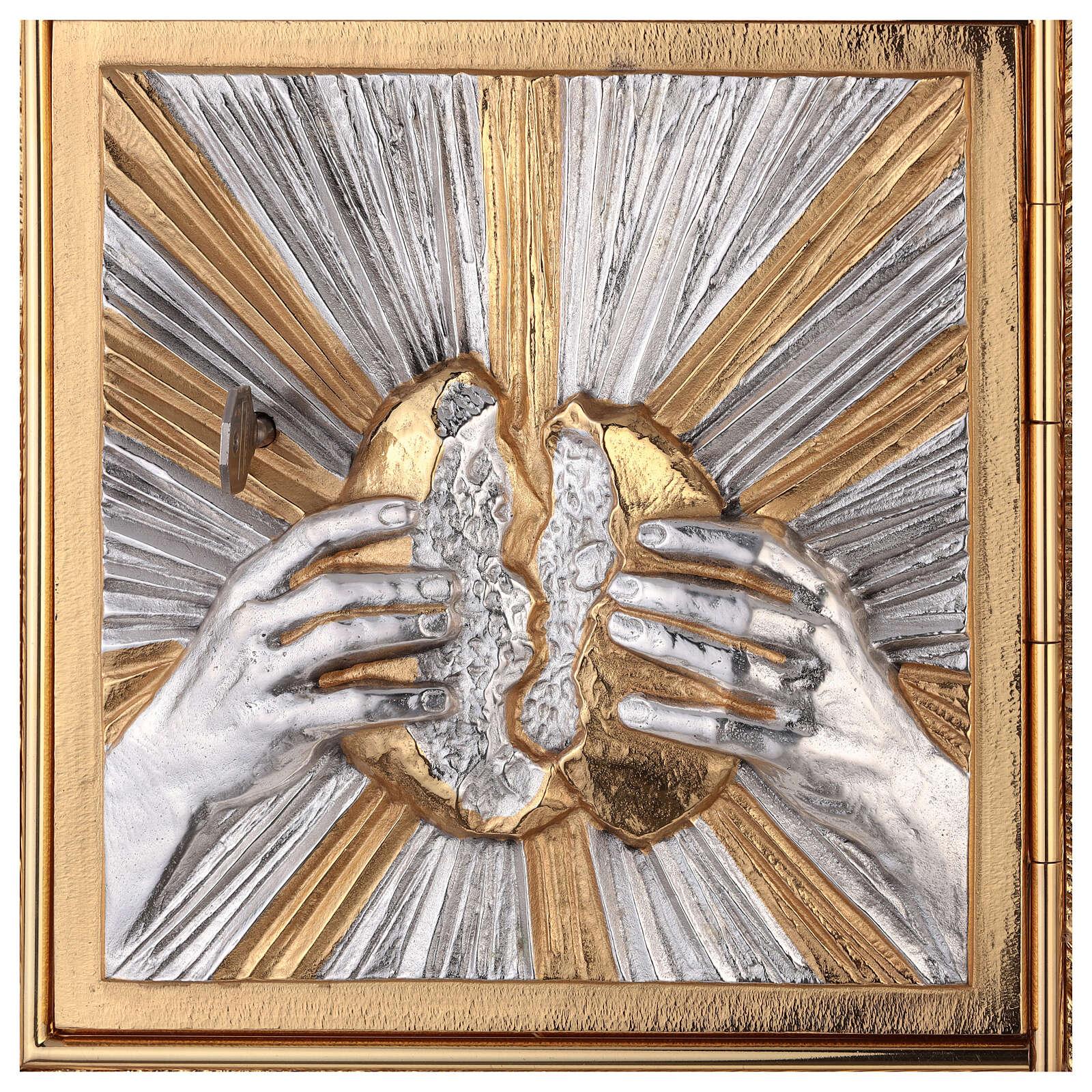 Tabernacolo a muro spezza il pane con raggiera 4