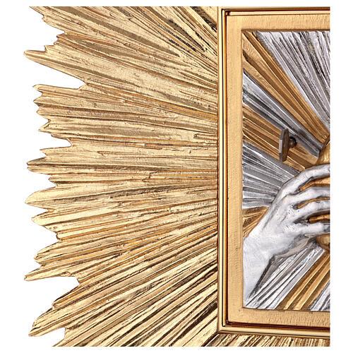Tabernacolo a muro spezza il pane con raggiera 8