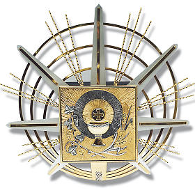 Tabernacle for wall with eucharistic symbols s1