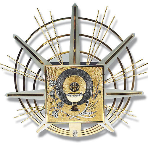 Tabernacle for wall with eucharistic symbols 1
