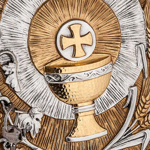 Tabernacle for wall with eucharistic symbols 2