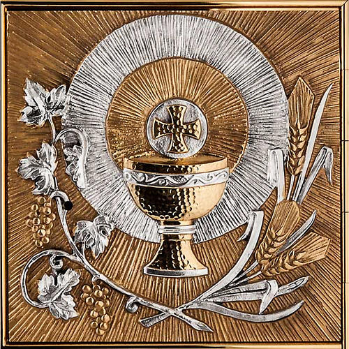 Tabernacolo a muro simboli eucaristici 4