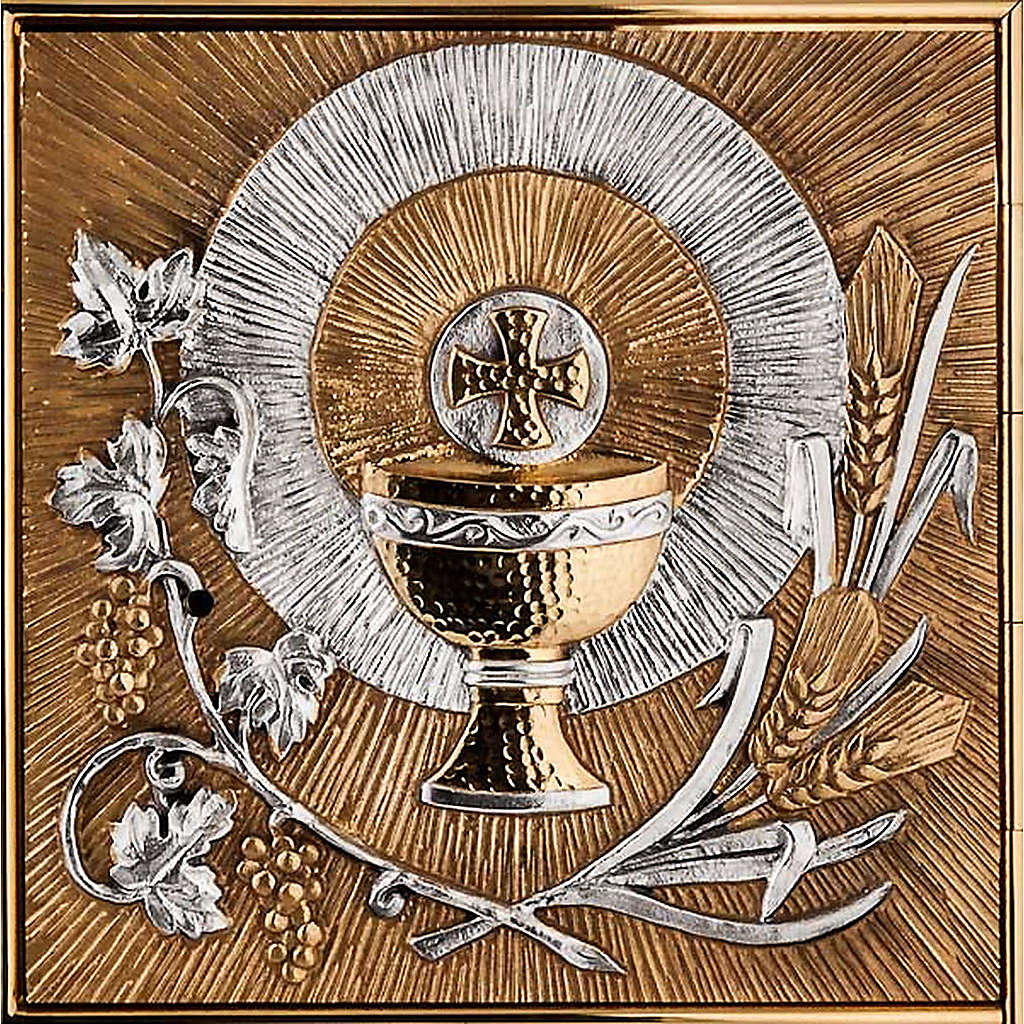 Tabernacle for wall with eucharistic symbols 4