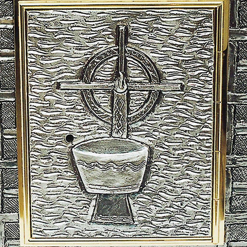 Tabernacle mural calice et croix 4