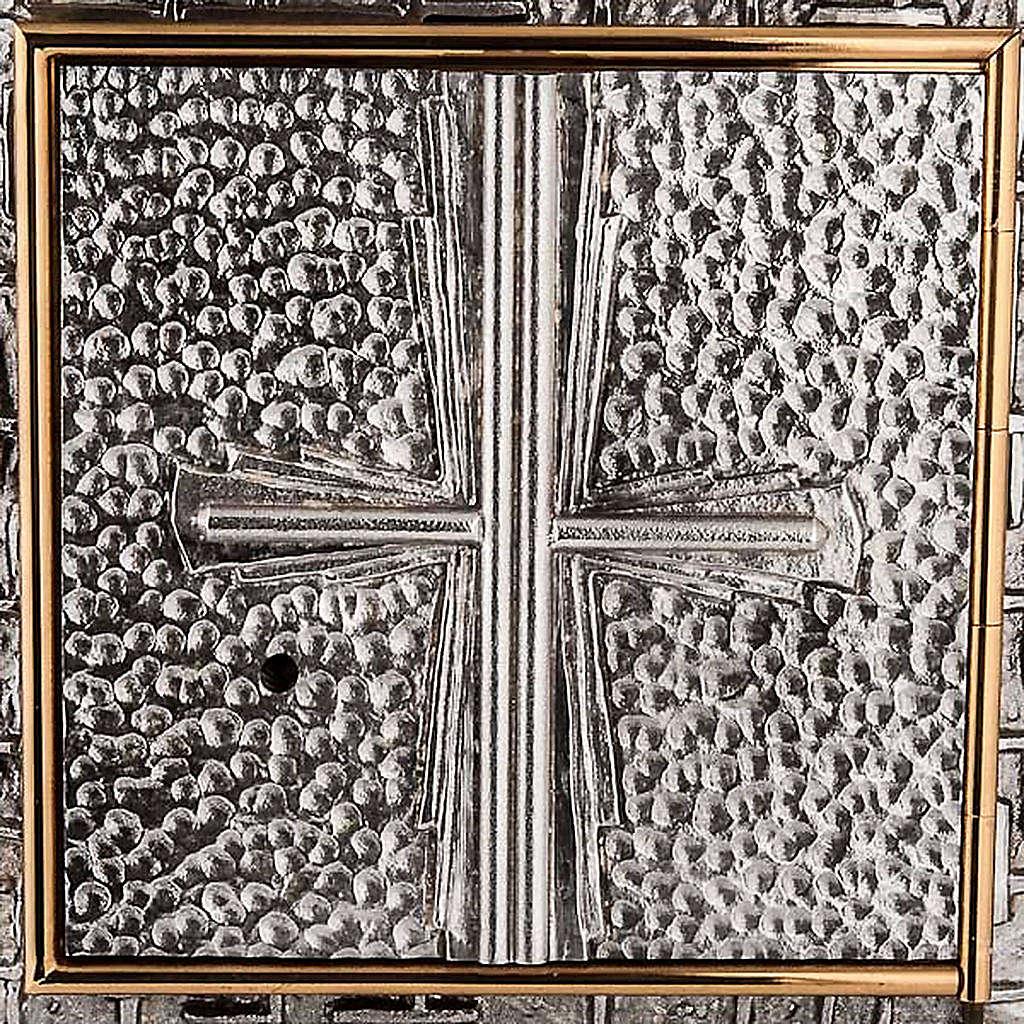 Tabernacle mural martelé, croix 4
