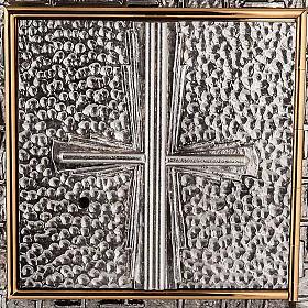 Tabernacle mural martelé, croix s2