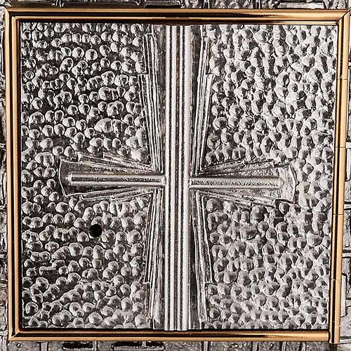 Tabernacle mural martelé, croix 2