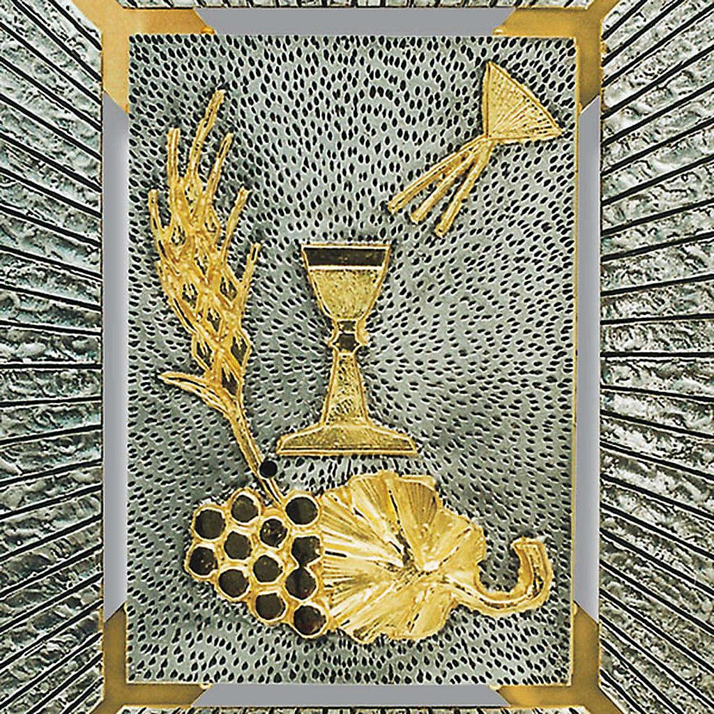 Tabernacolo a muro simboli eucaristici calice spiga uva 4