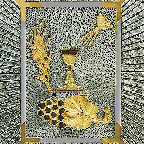 Tabernacolo a muro simboli eucaristici calice spiga uva 2