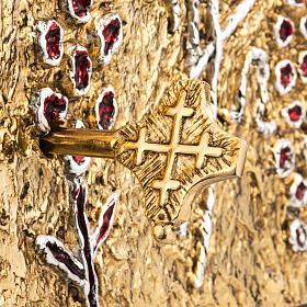 Tabernacle d'autel bois porte en laiton fondu raisins s5
