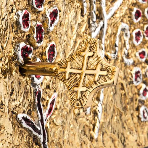 Tabernacle d'autel bois porte en laiton fondu raisins 5