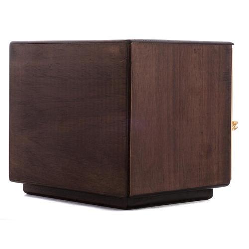 Tabernacle d'autel bois porte en laiton fondu raisins 8