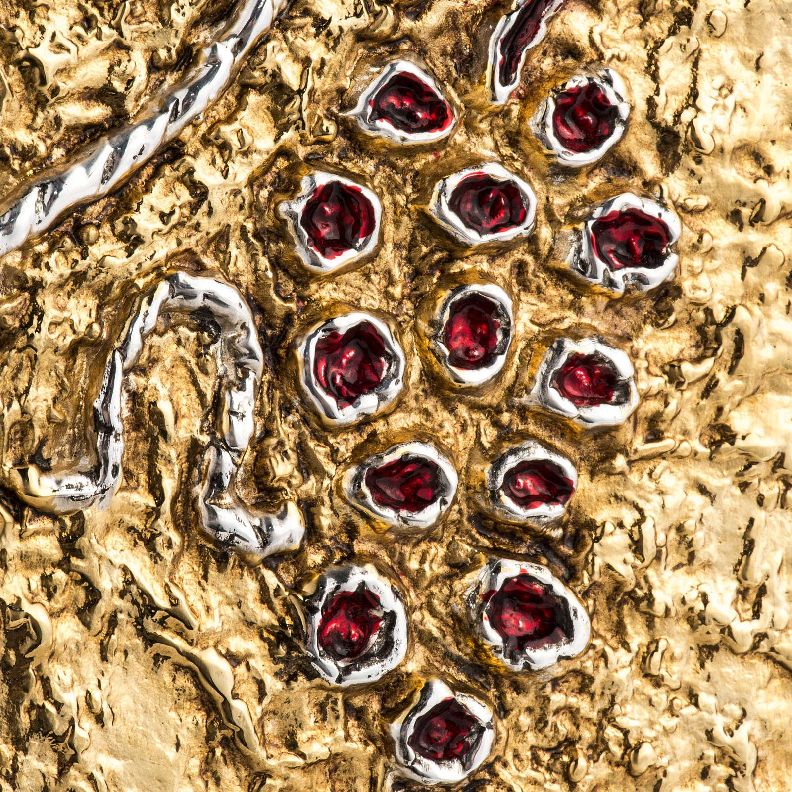 Tabernacolo da mensa legno porta ottone fuso uva 4