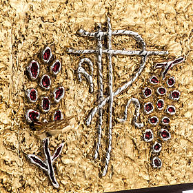 Tabernacolo da mensa legno porta ottone fuso uva s3