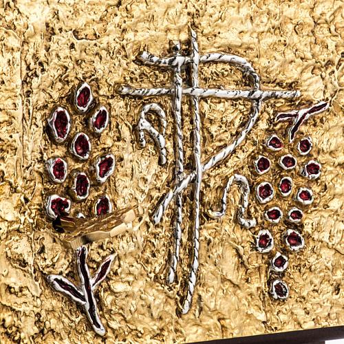 Tabernacolo da mensa legno porta ottone fuso uva 3