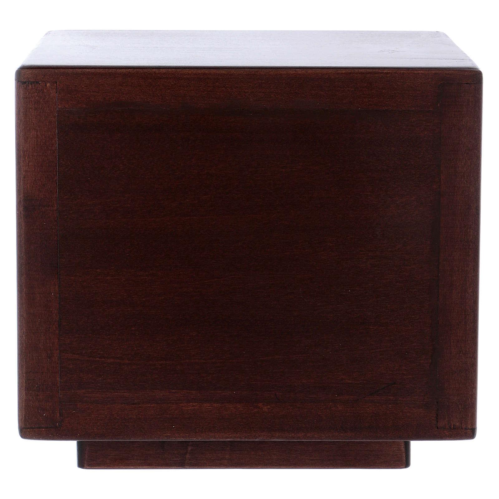 Tabernacolo da mensa Ultima cena legno porta ottone fuso 4