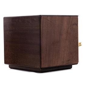 Tabernacolo da mensa Ultima cena legno porta ottone fuso s6