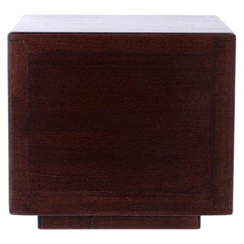 Tabernacolo da mensa Ultima cena legno porta ottone fuso 7
