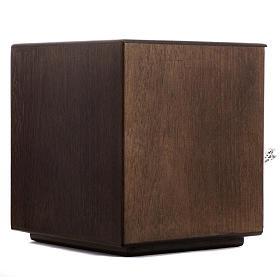 Tabernacle d'autel bois porte en laiton fondu pain s6